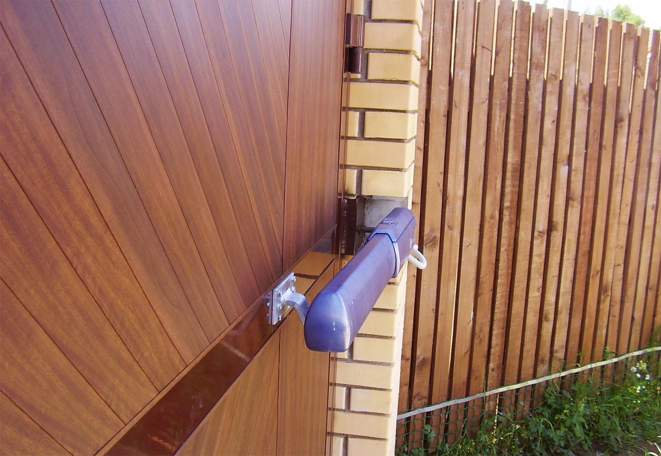 Автоматика для распашных ворот - линейный тип