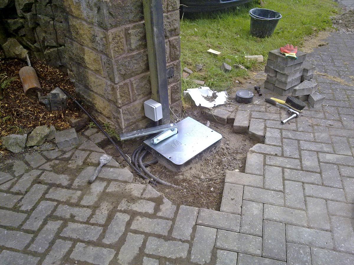 Автоматика для распашных ворот - подземный тип