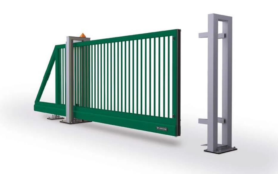 Промышленные откатные(сдвижные) ворота - базовая конструкция
