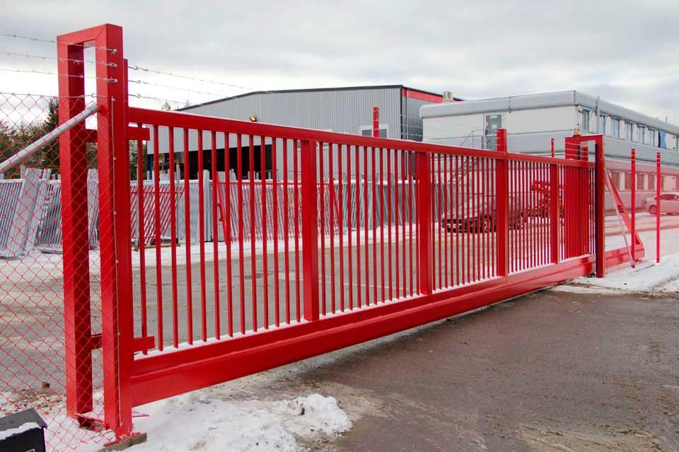 Промышленные откатные(сдвижные) ворота имеют различные варианты размеров и заполнения панели